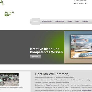 Webdesign für Architekturbüro erstellen lassen