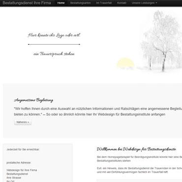 Homepage für Bestattungsdienst erstellen lassen