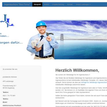 Homepage für Ingenieursbüro erstellen lassen